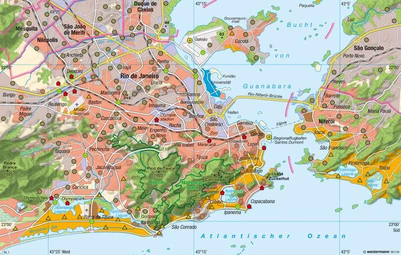 Rio De Janeiro Karte.Diercke Weltatlas Kartenansicht Rio De Janeiro
