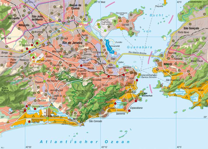 Rio de Janeiro | Küstenmetropole | Megastädte | Karte 161/6