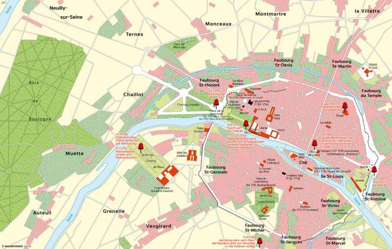 Paris | Zeit der Französischen Revolution 1789-1799 | Paris - Zeitenwende | Karte 128/2