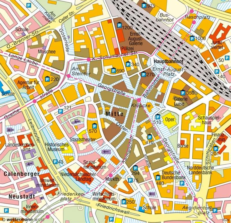 Hannover | Einkaufs- und Dienstleistungszentrum | Region Hannover | Karte 36/1