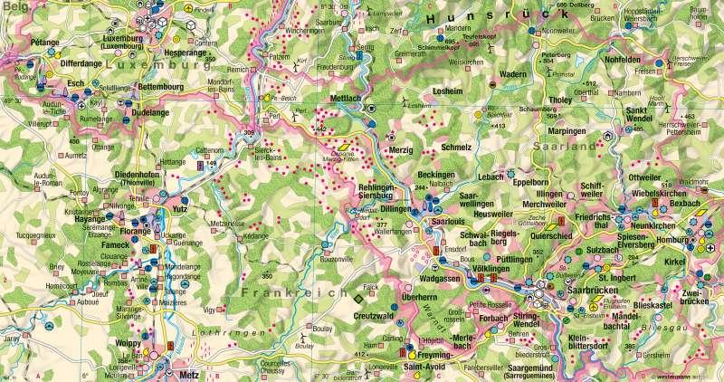Saarland, Lothringen, Luxemburg | Wirtschaft 2015 | Europaregion Saar-Lor-Lux - Strukturwandel | Karte 46/2