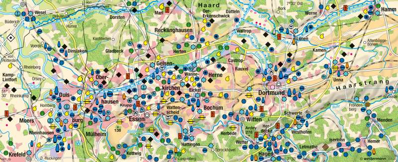 Ruhrgebiet | um 1960 | Strukturwandel | Karte 39/2