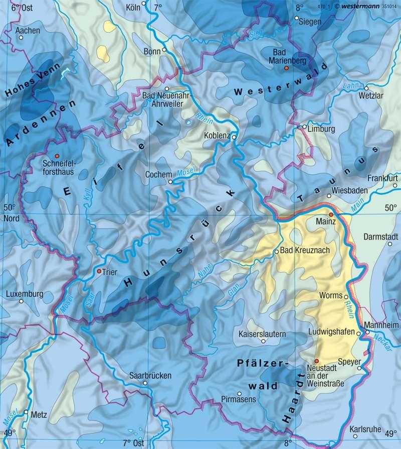 Rheinland-Pfalz |  | Landwirtschaft und Klima | Karte 17/4