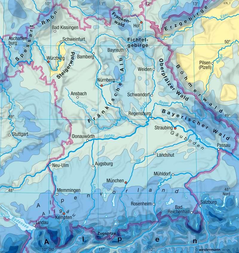 Bayern |  | Landwirtschaft und Klima | Karte 17/3