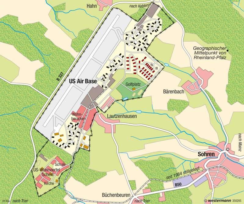 Flughafen Hahn | Konversion | Deutschland - Verkehr | Karte 65/7