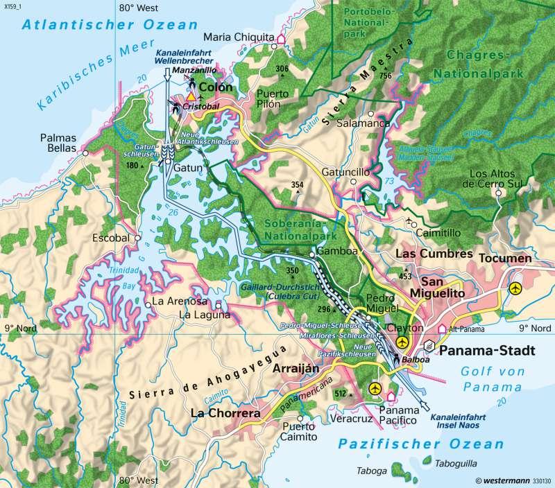 Panamakanal | Verbindung der Weltmeere | Amerika | Karte 215/2