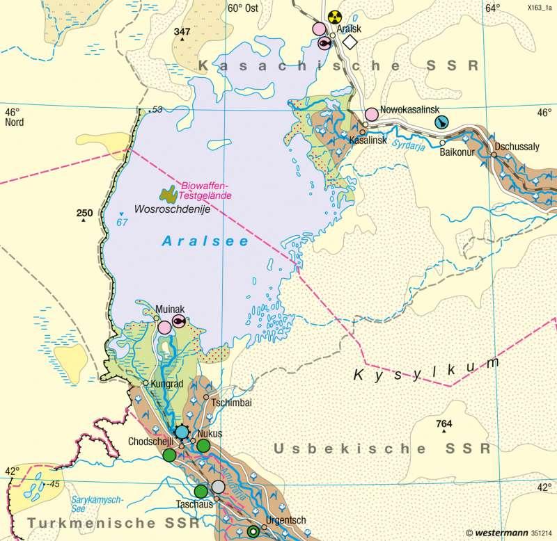 Aralsee | Landschaftswandel | Räume im Wandel | Karte 120/2