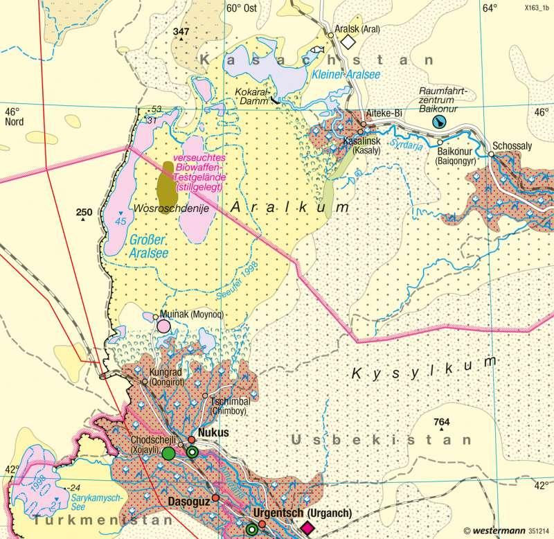 Aralsee   Landschaftswandel   Räume im Wandel   Karte 120/2