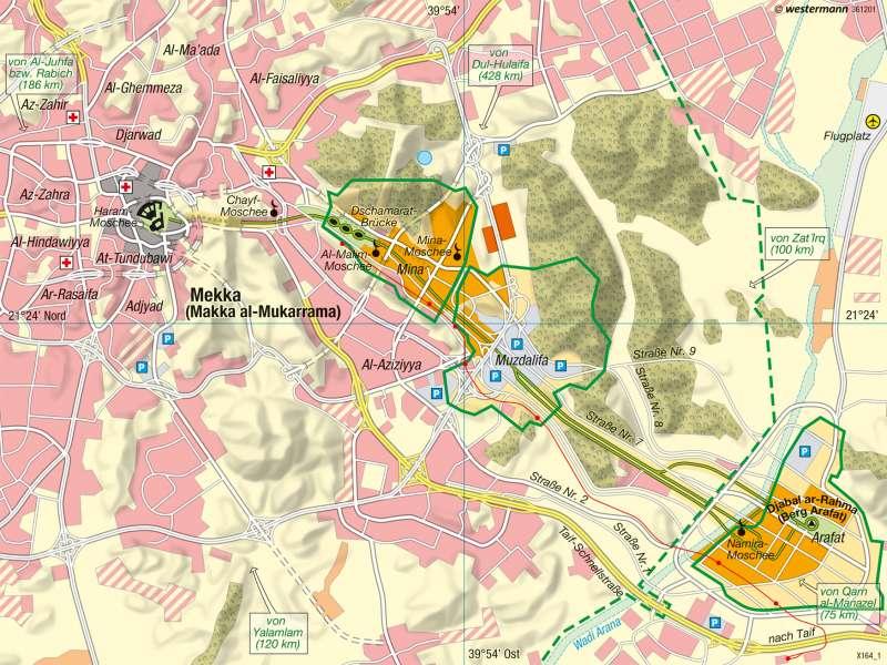 Mekka | Pilgerstadt | Naher und Mittlerer Osten - Siedlungsentwicklung | Karte 180/4