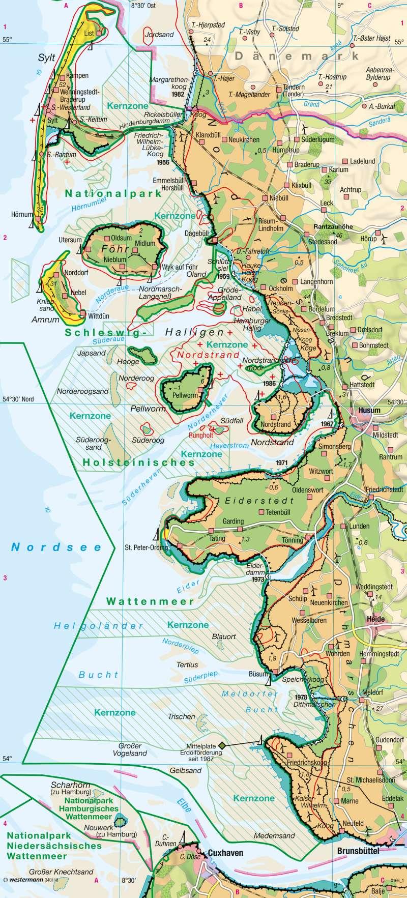 Nordsee | Wattenküste | Umwelt und Naturgefahren | Karte 33/5