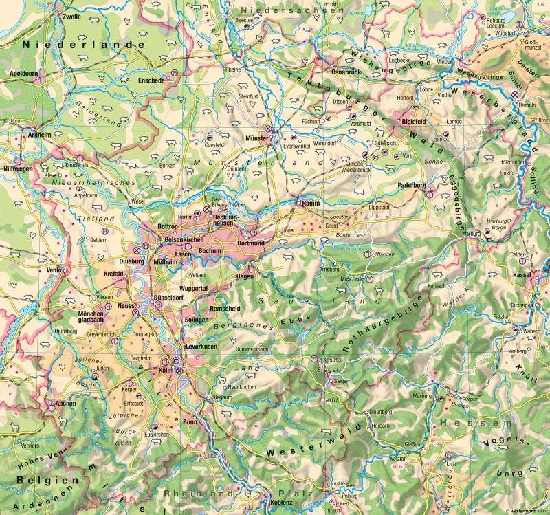 Nordrhein-Westfalen   Landwirtschaft   Landwirtschaft, Klima und Umwelt   Karte 16/1