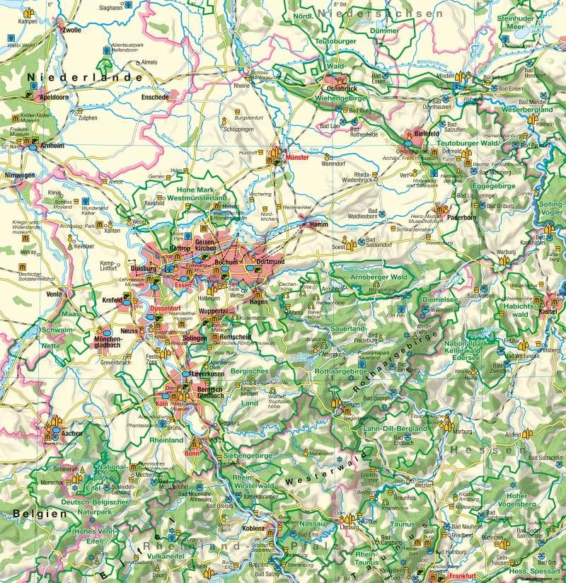 Nordrhein-Westfalen   Tourismus   Tourismus   Karte 20/1