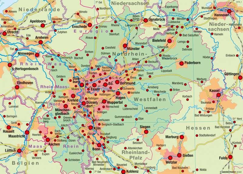 Nordrhein-Westfalen | Raumordnung | Raumordnung | Karte 21/2