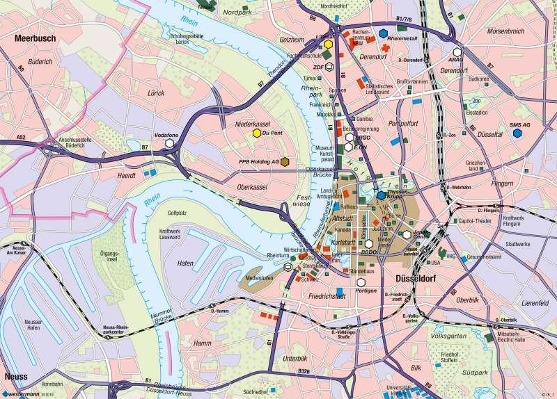 Düsseldorf-Innenstadt | Oberzentrum | Raumordnung | Karte 21/3