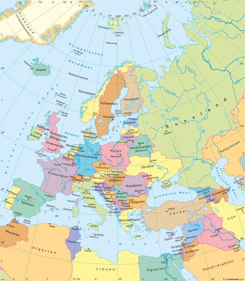 Europa | Politische Übersicht | Europa | Karte 107/5
