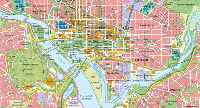 Diercke Weltatlas Kartenansicht Washington D C Machtzentrum