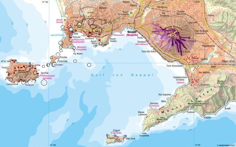 Golf von Neapel | Leben am Vulkan | Südeuropa - Mediterrane Kulturlandschaften | Karte 136/2