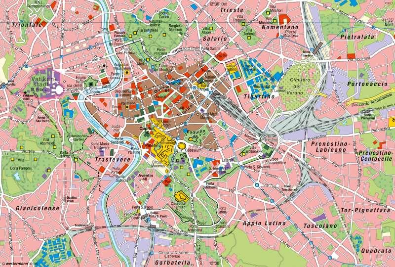 Rom | Stadtlandschaft | Südeuropa - Mediterrane Kulturlandschaften | Karte 136/1