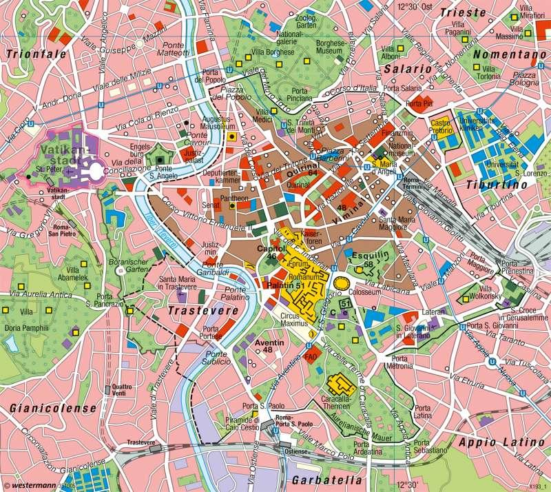 Rom   Stadtlandschaft      Karte 87/2