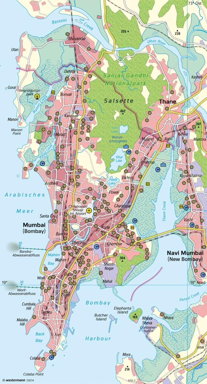 indien karte mumbai Diercke Weltatlas   Kartenansicht   Mumbai   Überflutung nach