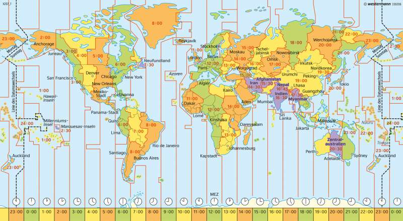 Diercke Weltatlas Kartenansicht Erde Zeitzonen 978 3 14