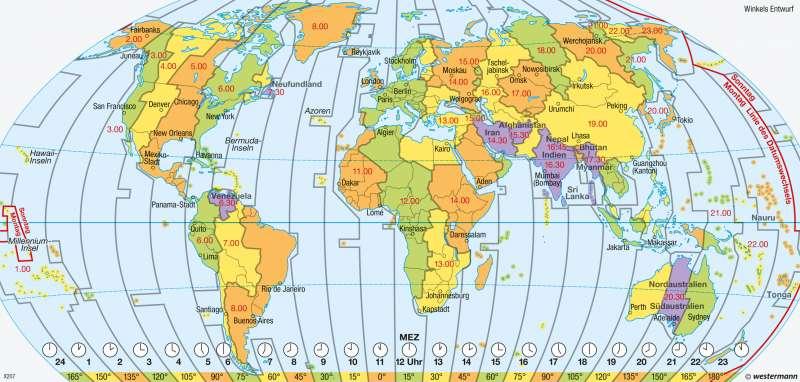 karte zeitzonen Diercke Weltatlas   Kartenansicht   Erde   Zeitzonen   978 3 14