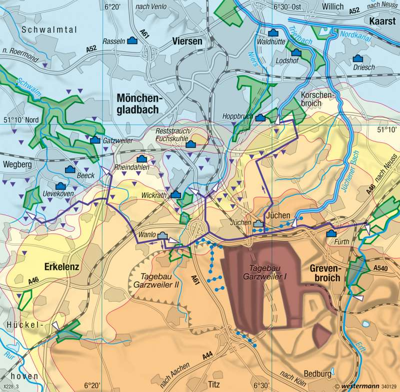 Nordrevier | Grundwasserabsenkung | Rheinisches Braunkohlenrevier | Karte 19/2