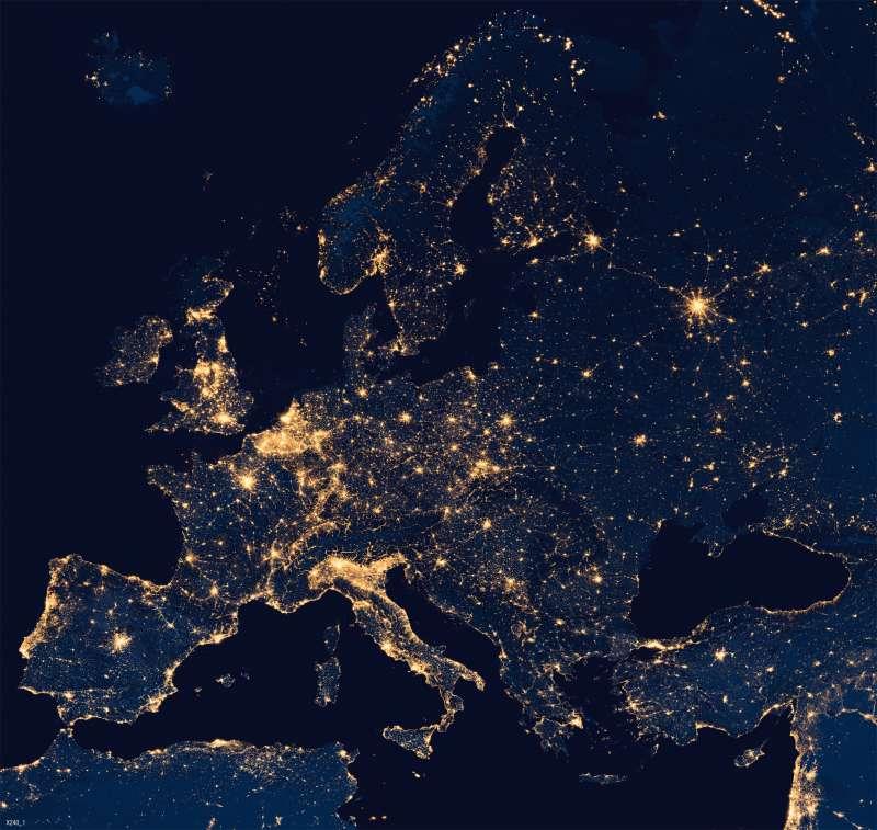 Europa   Nachtaufnahme   Energie   Karte 67/3