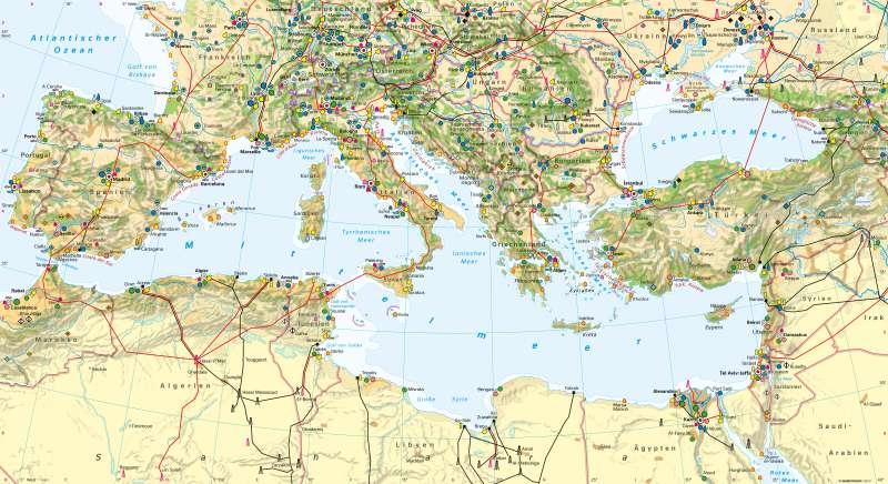 Mittelmeerraum | Wirtschaft und Tourismus | Mittelmeerraum - Wirtschaft und Tourismus | Karte 144/1
