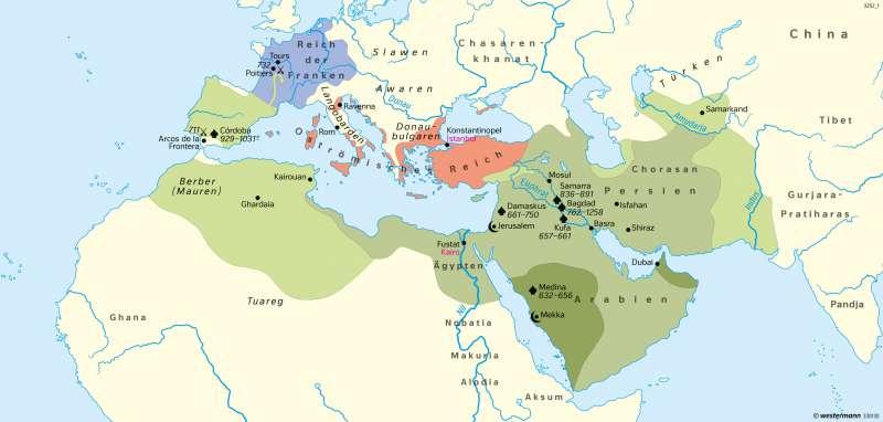Orient | Anfänge und Ausbreitung des Islam | Erde - Glaubensgemeinschaften | Karte 37/4