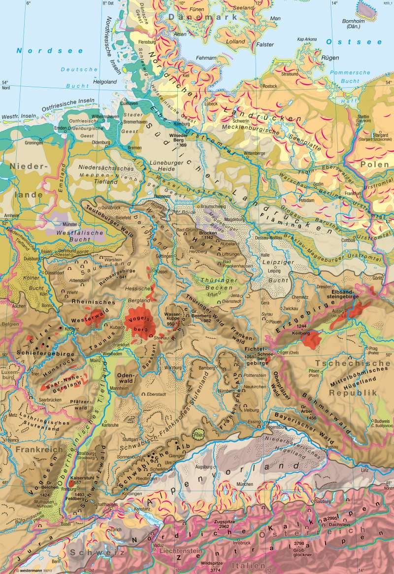 Deutschland   Landschaften   Naturraum   Karte 30/1