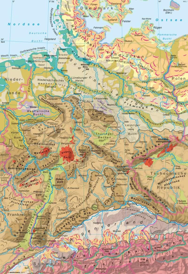 Deutschland | Landschaften | Naturraum | Karte 28/1