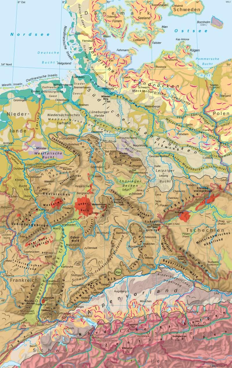 Deutschland   Landschaften   Deutschland - Naturraum   Karte 60/1