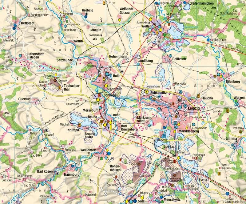 Industrieraum Halle-Leipzig | 2015 | Wirtschaftsraum Halle-Leipzig - Transformation | Karte 43/2