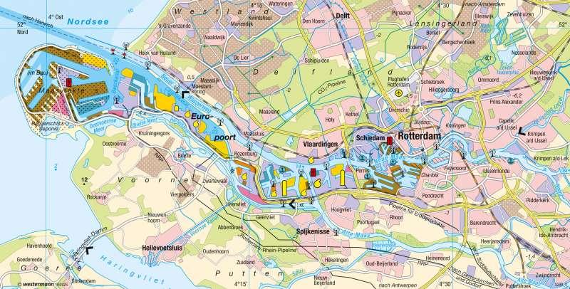 Rotterdam | Hafen | Niederlande - Mehrkernballung Randstad | Karte 123/3