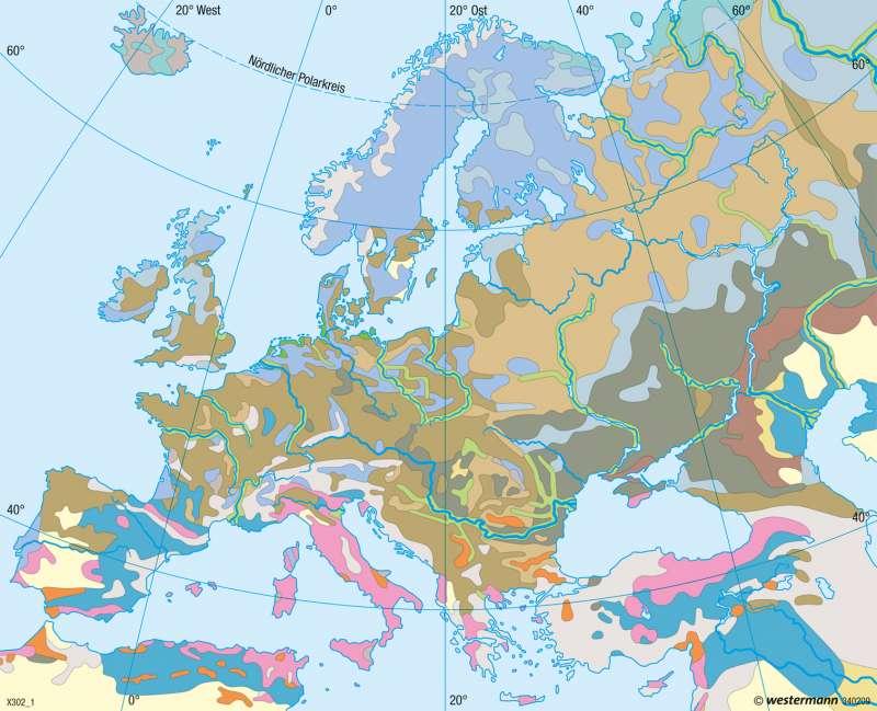 Europa | Bodentypen | Landwirtschaft | Karte 61/3