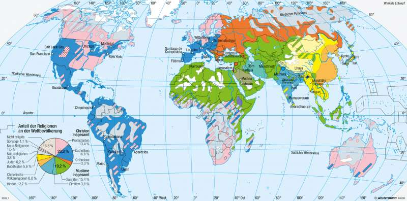 Erde | Religionen | Erde - Religionen und Sprachen | Karte 278/1