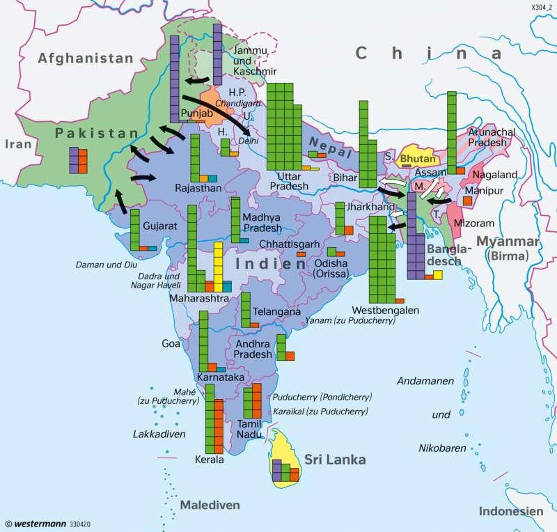 Südasien Karte.Diercke Weltatlas Kartenansicht Südasien Religionen 978 3 14