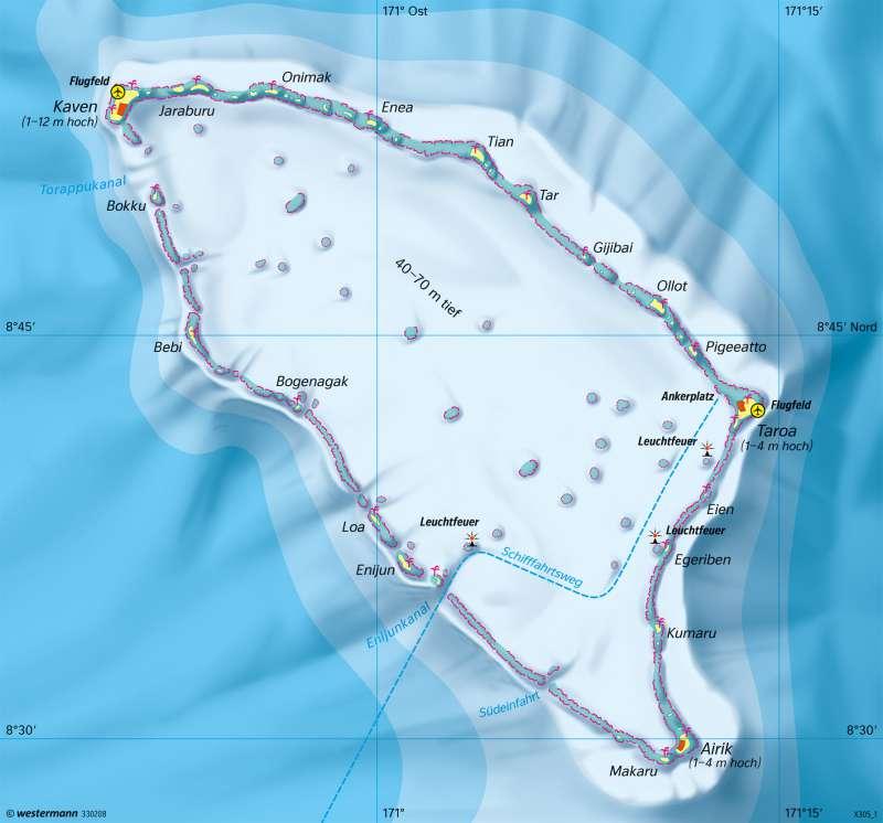 Maloelap (Marshallinseln) | Verwundbarkeit eines Atolls | Erde | Karte 17/6
