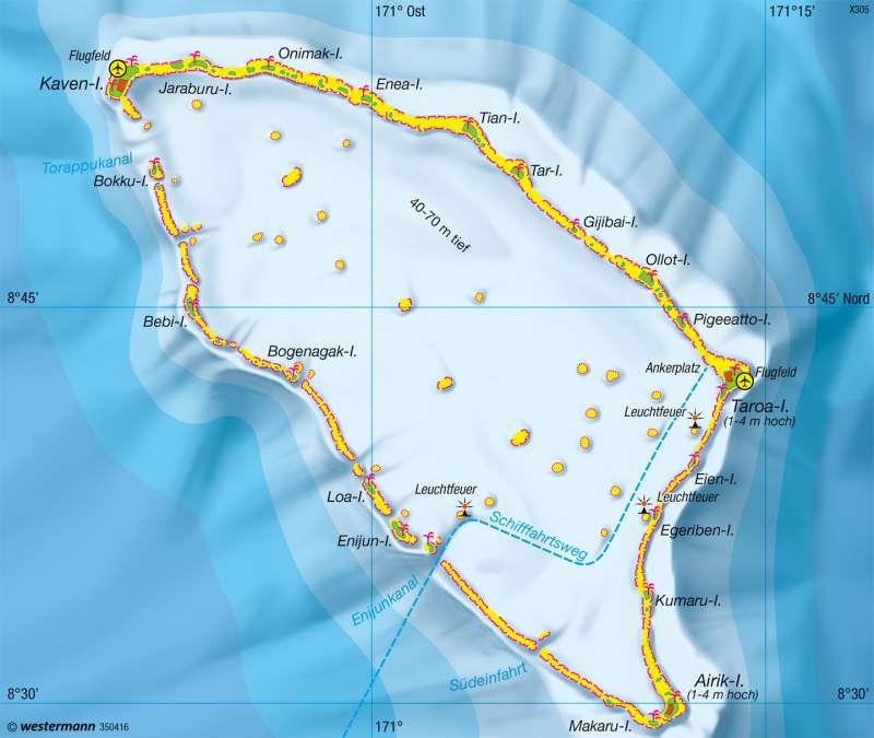 Maloelap (Marshall-Inseln) | Atoll | Physische Übersicht | Karte 139/3