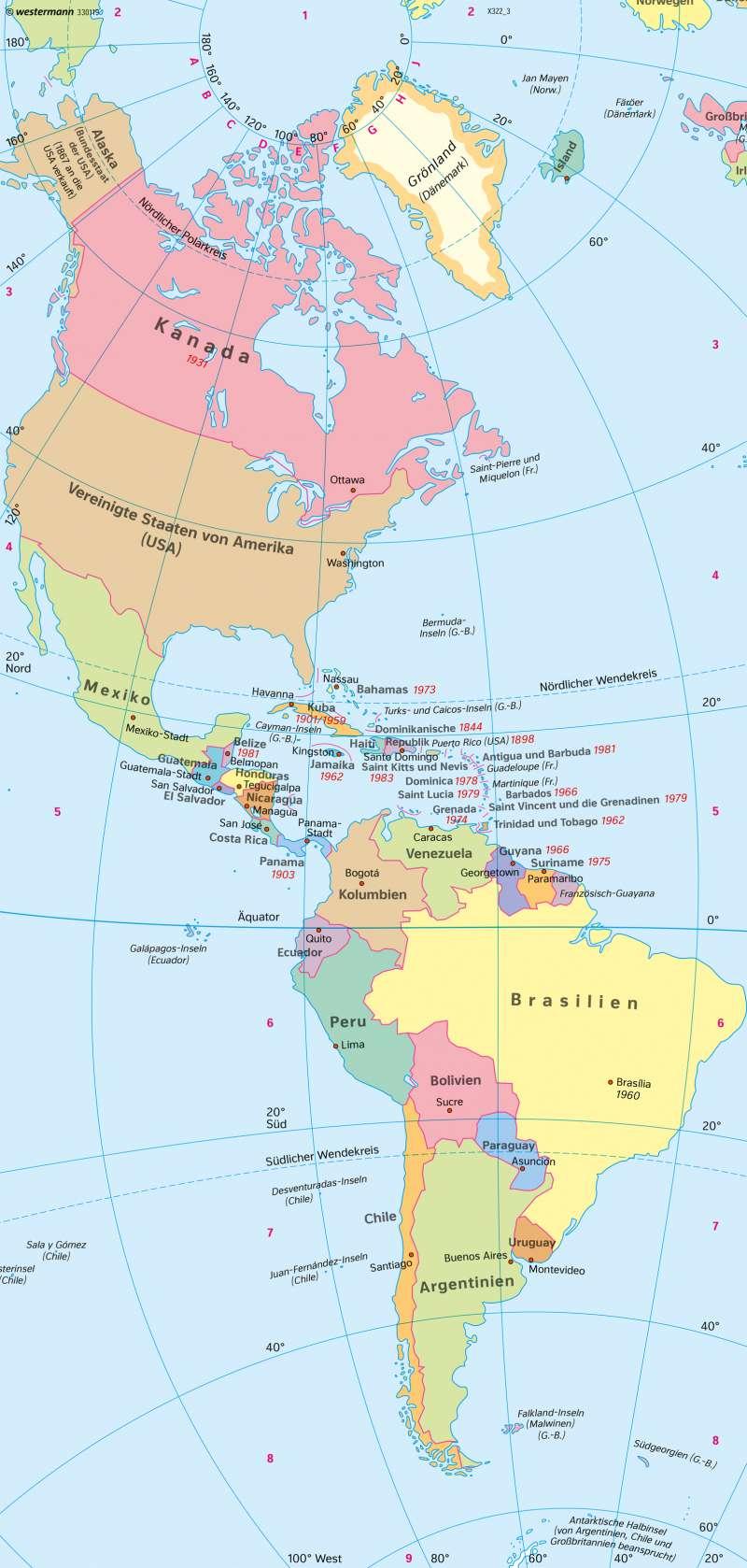 Usa Karte Ohne Staaten.Diercke Weltatlas Kartenansicht Amerika Politische übersicht