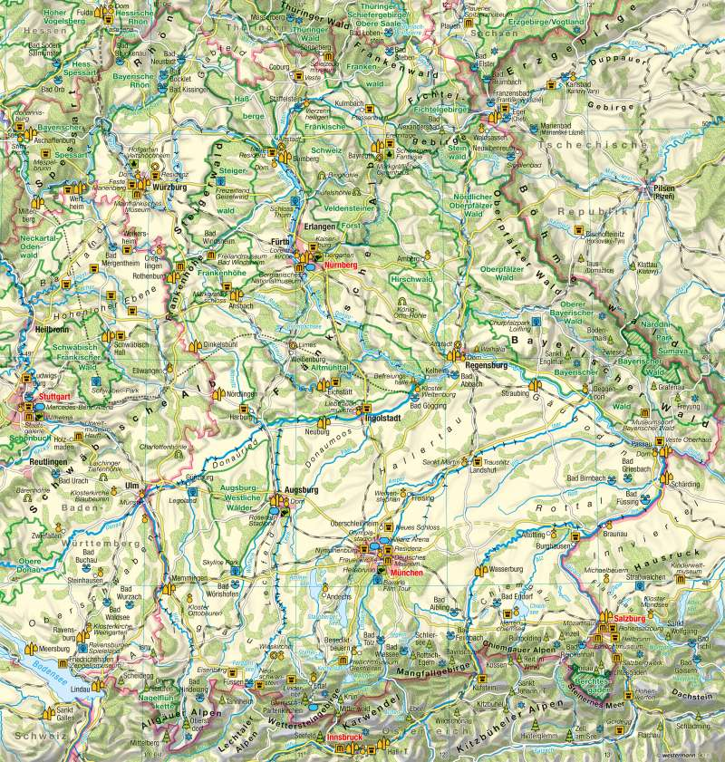Bayern   Tourismus   Tourismus   Karte 18/1