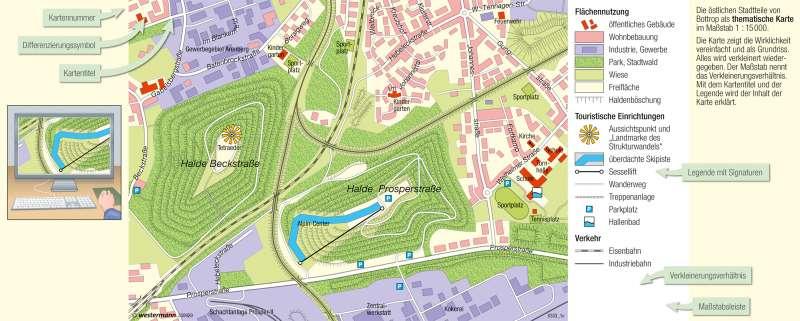 Bottrop | Naherholung auf Abraumhalden | Vom Bild zur Karte | Karte 8/2