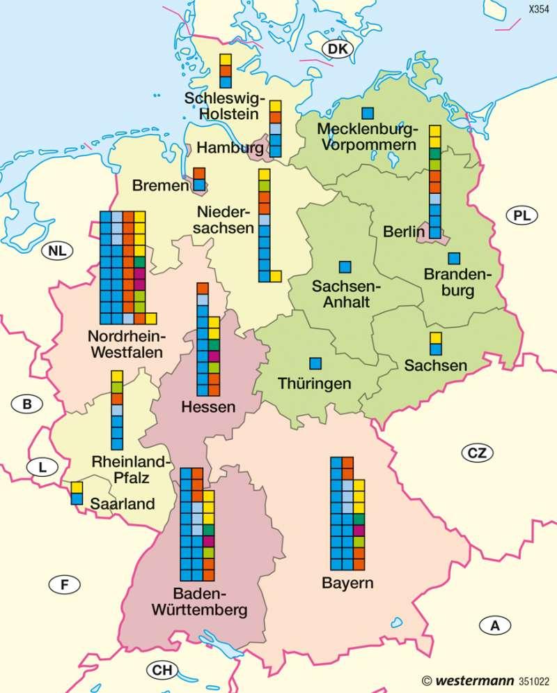 Deutschland   Ausländische Bevölkerung   Bevölkerung und Migration   Karte 51/6