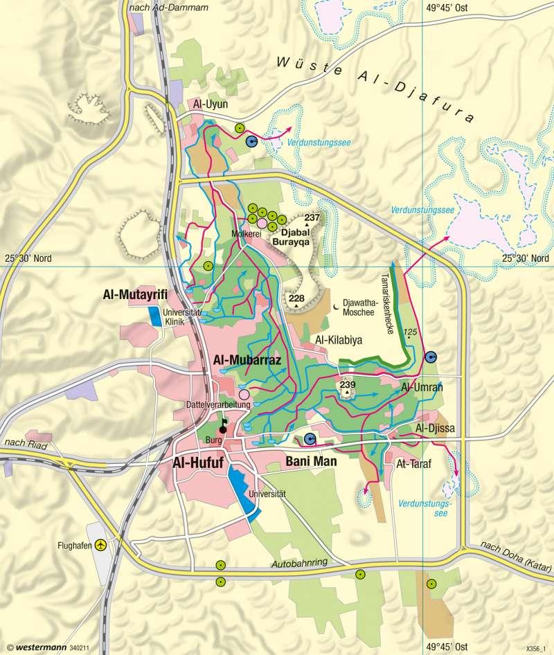 Al-Hasa | Ausbau einer Quelloase | Räume im Wandel | Karte 121/4