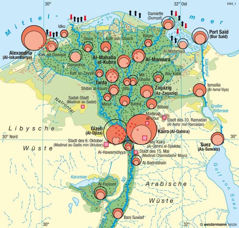 Diercke Weltatlas Kartenansicht Unter Agypten Bevolkerung