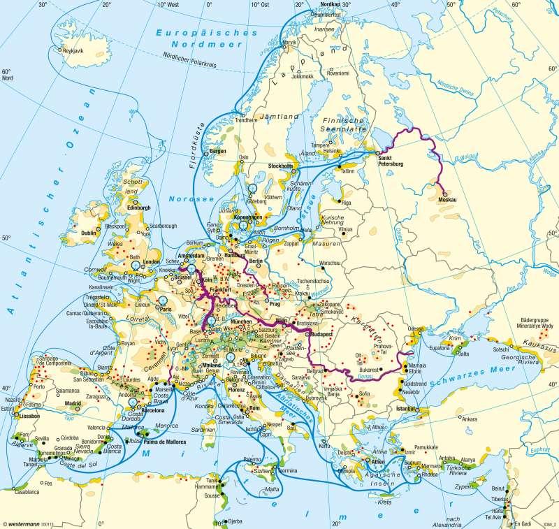Europa | Tourismus | Europa - Tourismus | Karte 105/3