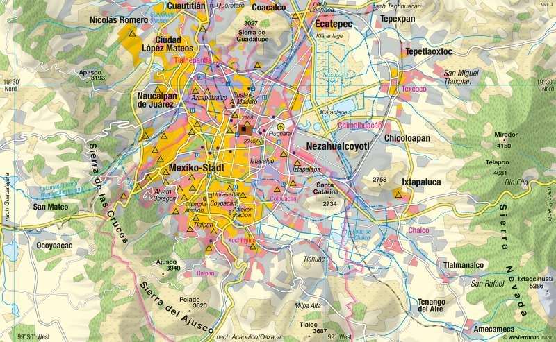 Mexiko-Stadt | Hochlandmetropole | Mexiko - Lateinamerikanische Stadt | Karte 223/5