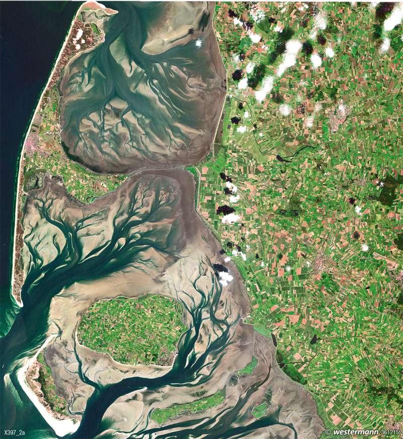 Das Wattenmeer | Gezeiten | Norddeutschland - Küstenlandschaften und Küstenschutz | Karte 33/4