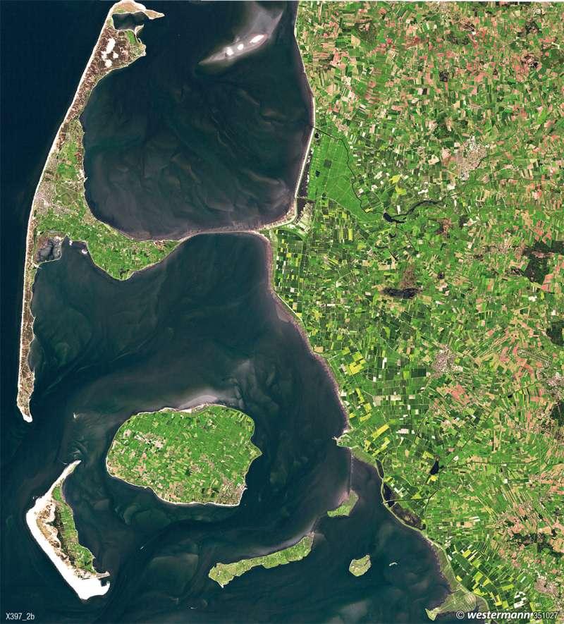 Das Wattenmeer   Gezeiten   Umwelt und Naturgefahren   Karte 33/6